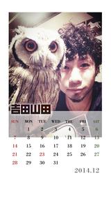 12月カレンダー(吉田撮影)